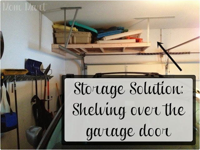 Storage Solution for over the garage door storage