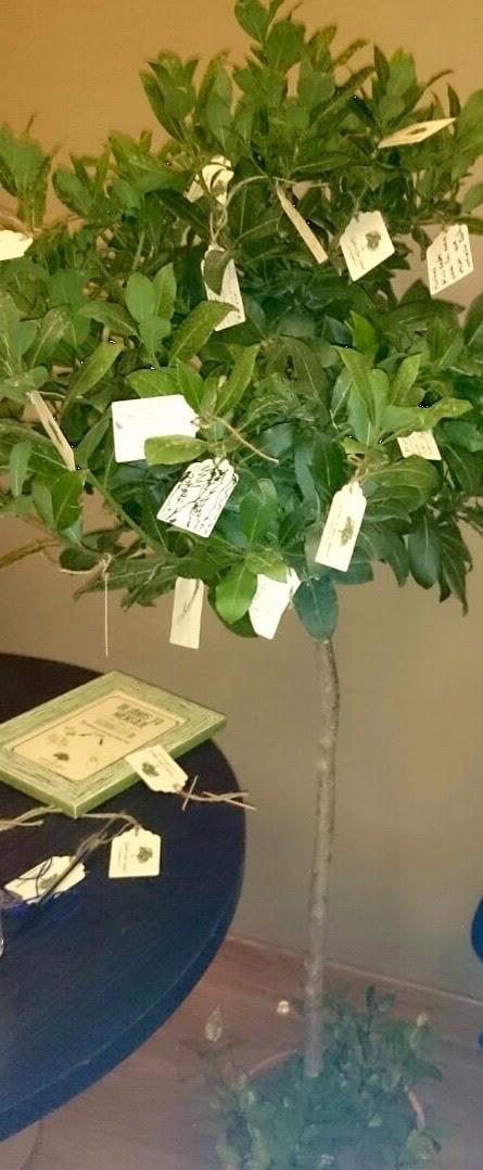 firmas boda en árbol