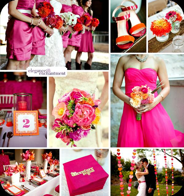 Matrimonio Tema Fucsia : Il tondo e l ovale event and wedding colore matrimonio