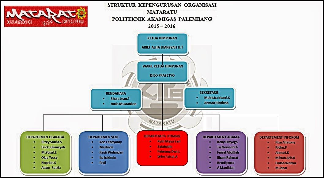 STRUKTUR KEPENGURUSAN 2015/2016