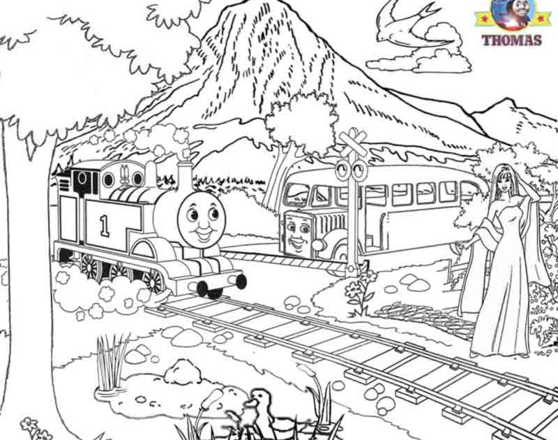 Thomas colouring free colouring pages for kids Train
