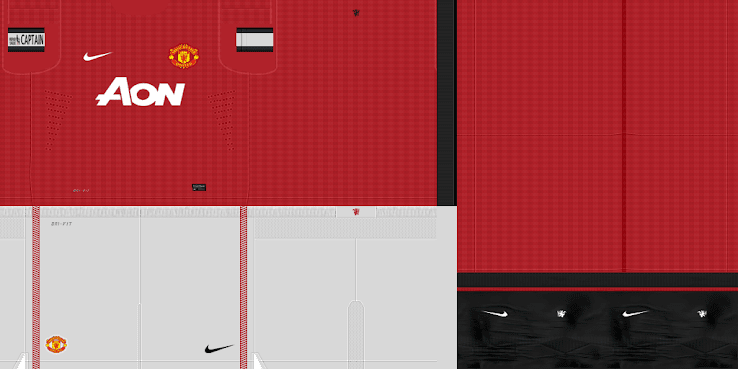 PES 2012 Manchester United 12 13 Home & GK Home Kits by BeasT