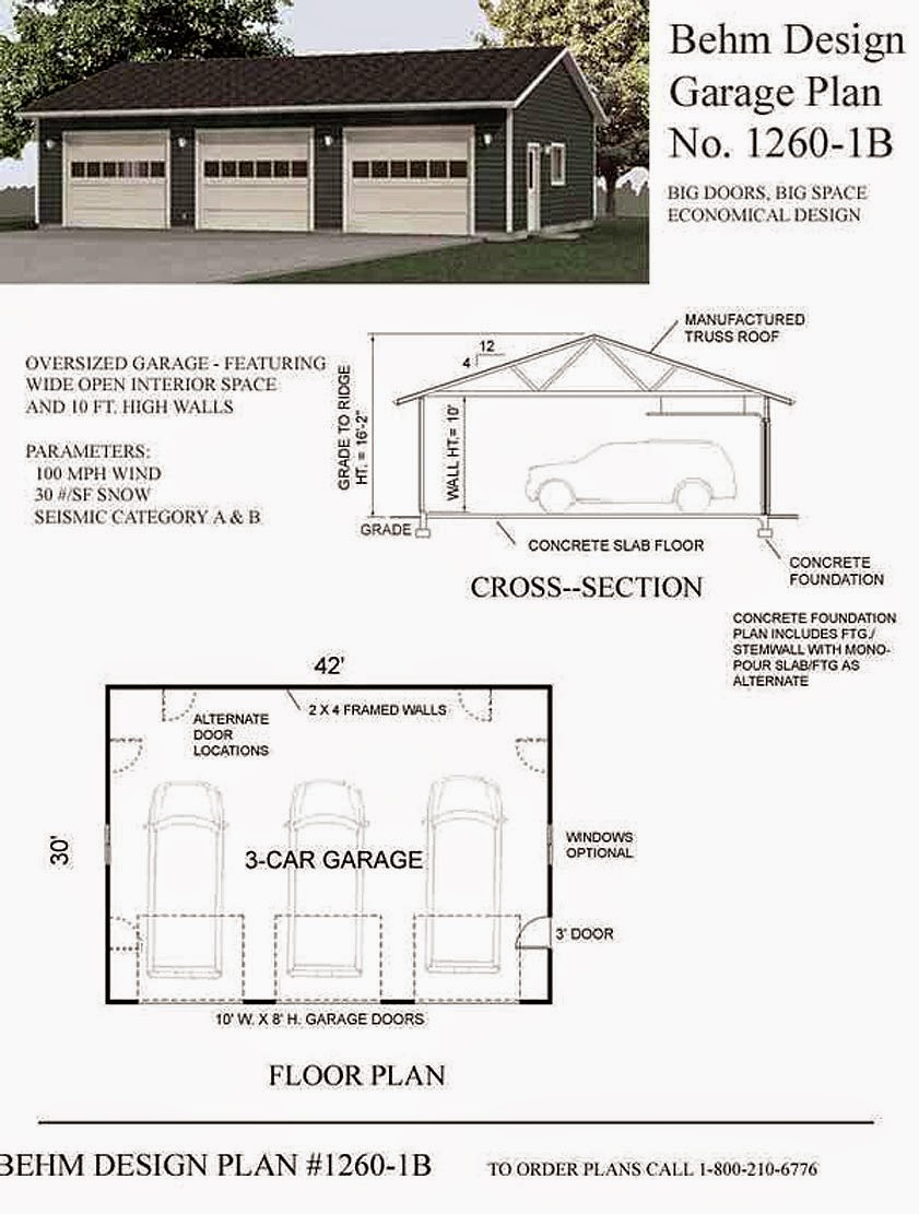 Garage plans blog behm design garage plan examples for 40x40 garage plans
