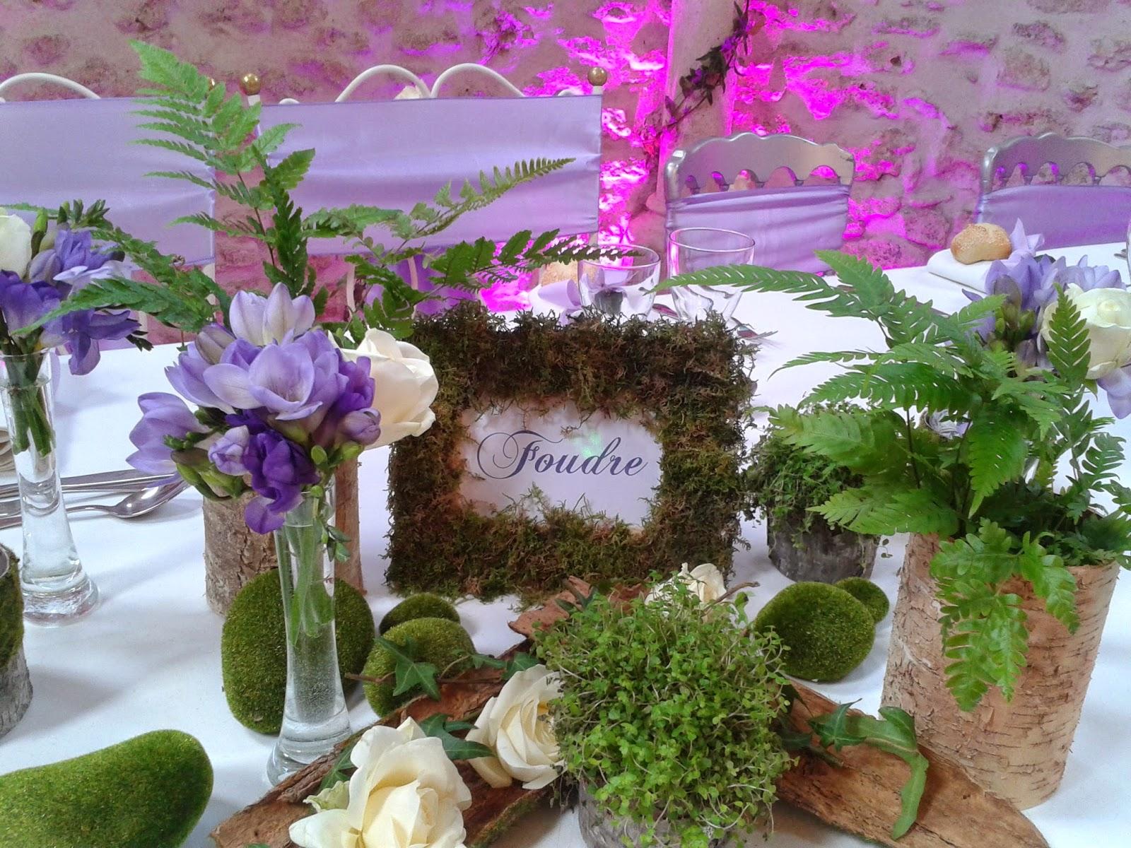 Le secret des receptions d coration de mariage sur le - Deco avec rondin de bois ...
