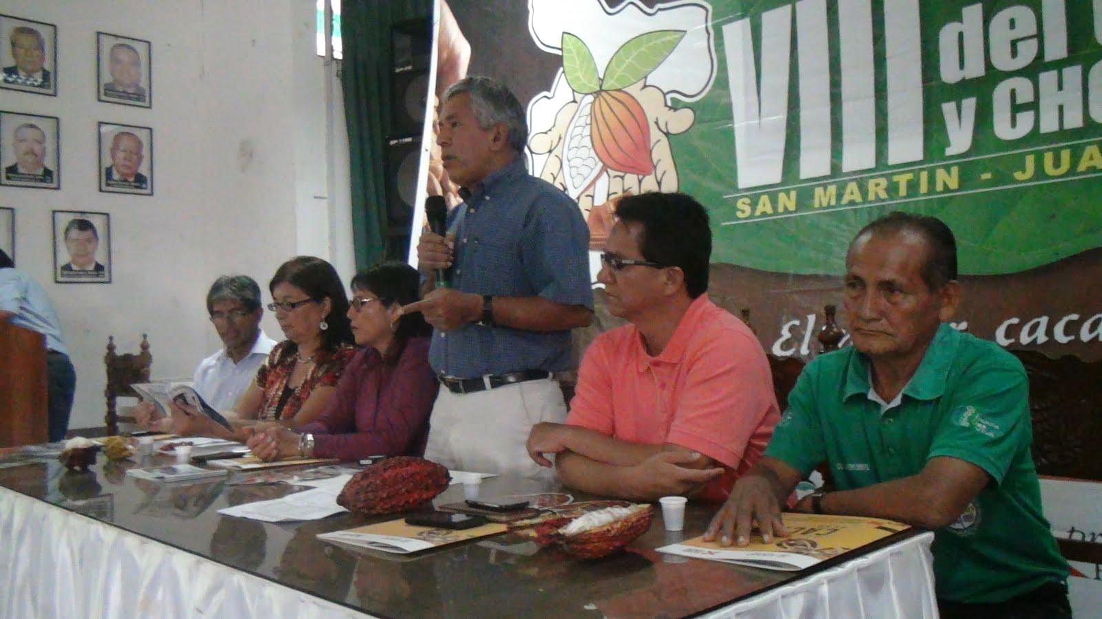 Vicegobernador regional destaca producción de cacao en San Martín