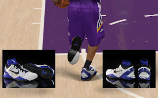 NBA 2K13 Nike Kobe 7 Concord - White - Black Shoes