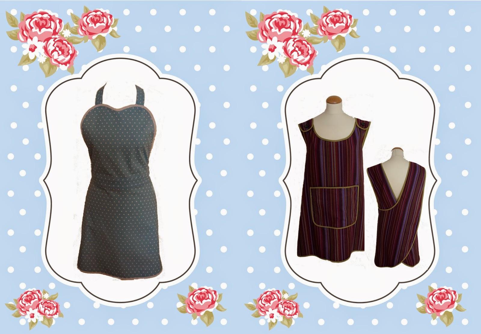 Patrones de costura vintage para delantales