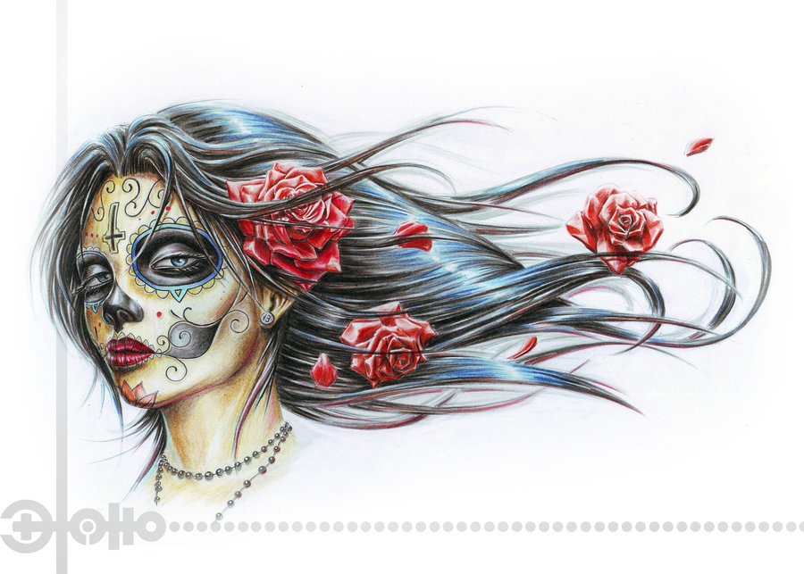 Gallery funny game day of the dead tattoo designs for Day of the dead tattoo designs