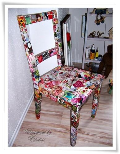 Einen alten Stuhl selber verschönern – Rückenlehne aus ...