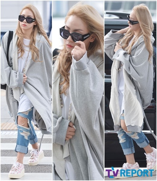 2NE1 CL Airport fashion style