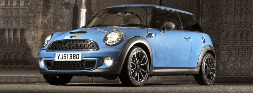 Couverture facebook mini cooper bleu