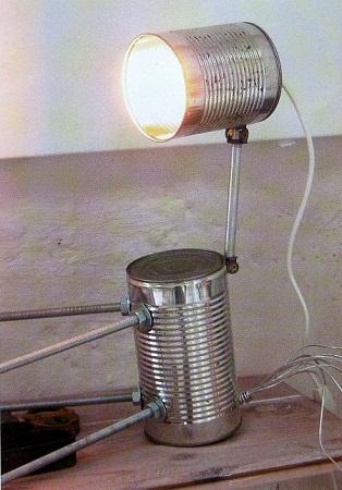L mpara con latas de leche accesorios con - Lamparas originales recicladas ...