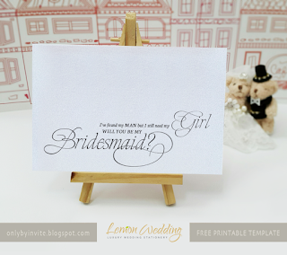 "Free printable card ""Will you be my bridesmaid?"""