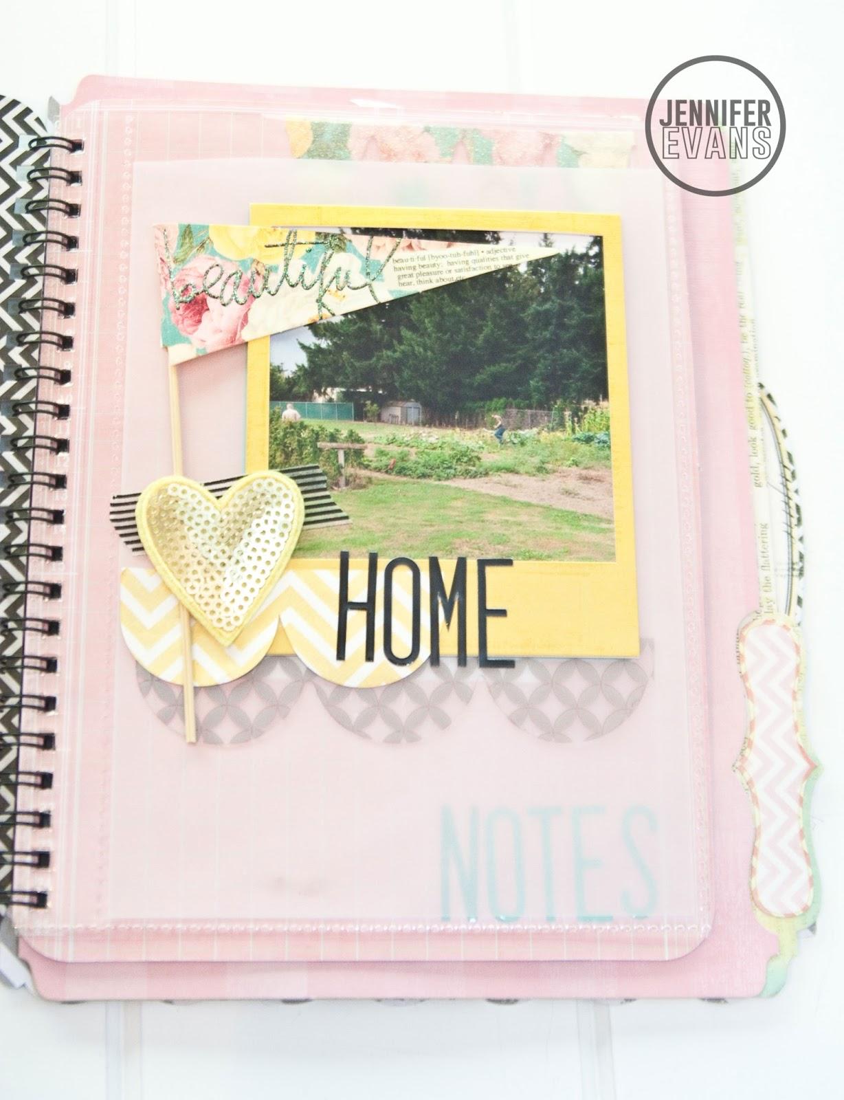 Heidi Swapp Mini Memory File Album Garden Journal