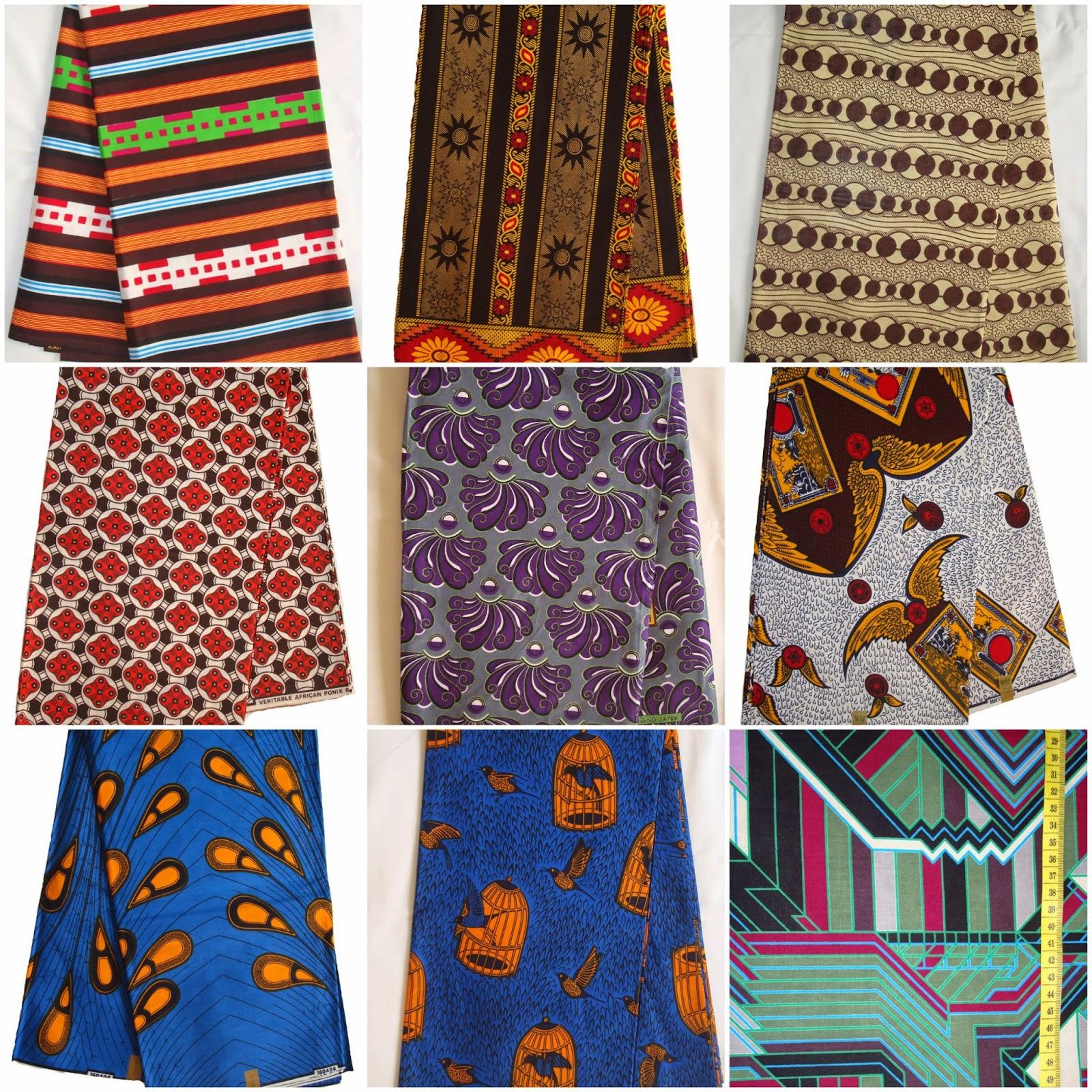 Яркие африканские ткани. Этнические ткани.