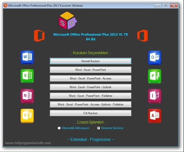 Microsoft Office 2013 Katılımsız Pro VL Türkçe Full İndir