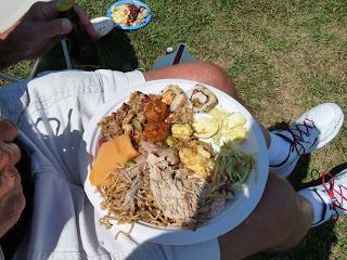 Hawaiian food on Keoki's plate