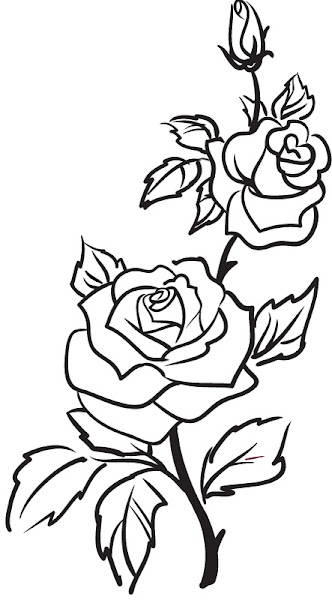 Flowers To Color And Print Free
