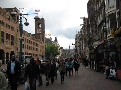 La ciudad de Amsterdam. La famosa calle Dam