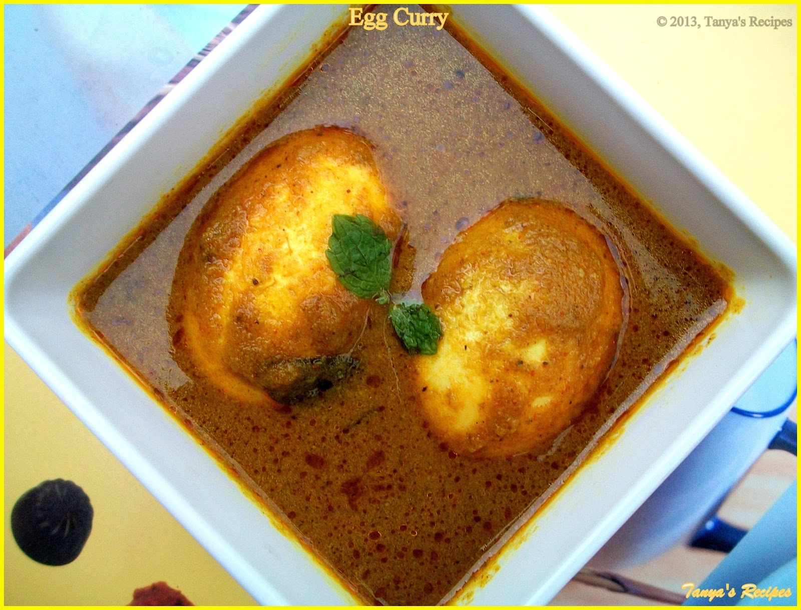 Egg Curry | Tanya's Recipes