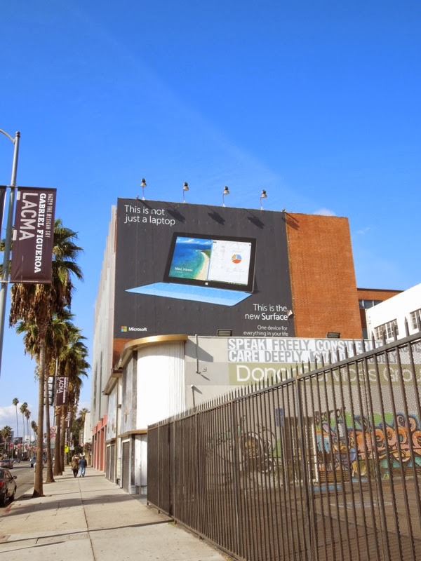 New Surface billboard Hollywood