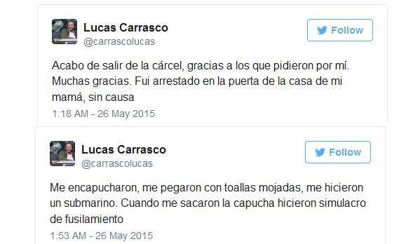 Sobre la supuesta detención de Lucas Carrasco