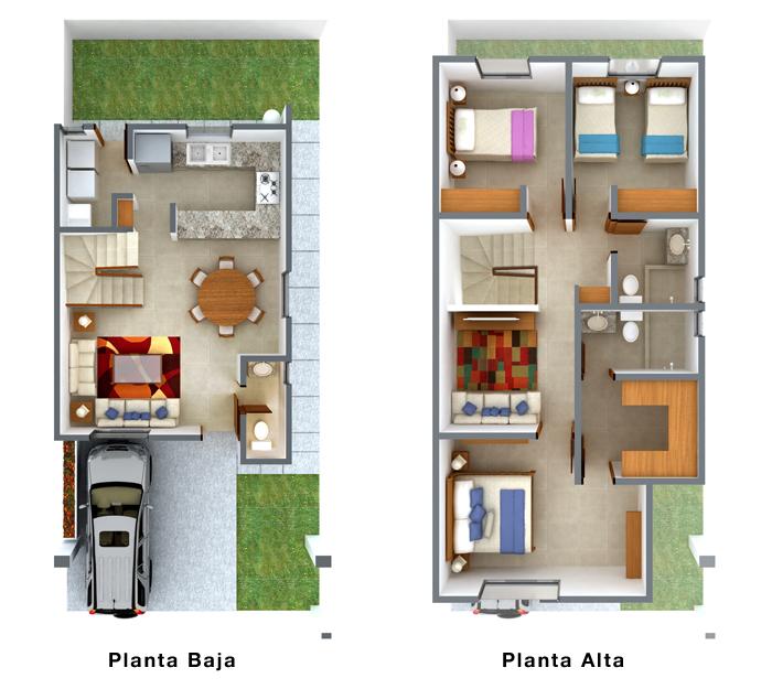 Casas en venta y departamentos septiembre 2012 for Planos de casas 8x15