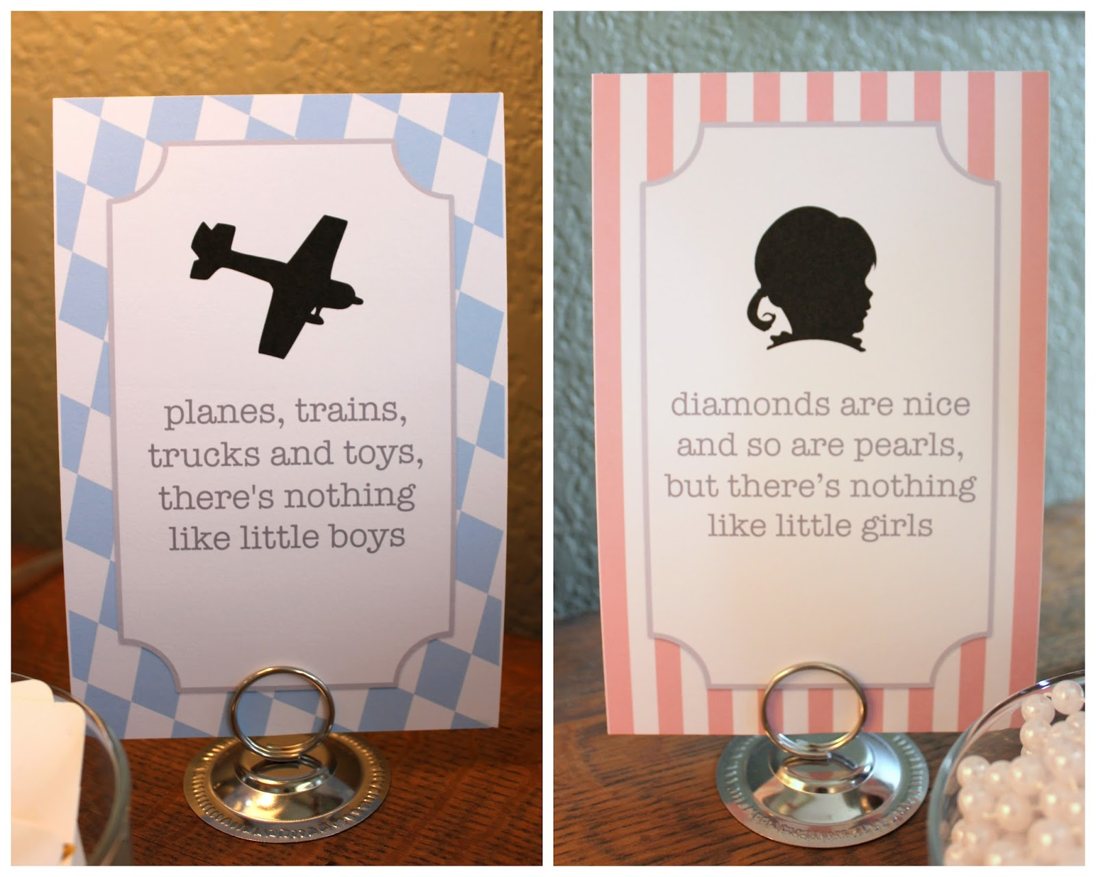 Planes Or Pearls Gender Reveal Party