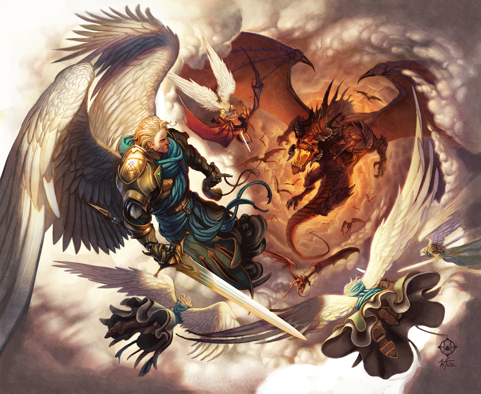 Fire fighter tattoo pinterest - The Angels Sanctuary Angel Heaven Armies Against Dragon Lord
