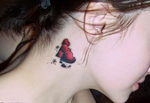 Neck tattoos for women neck tattoo ideas for girls neck star tattoo