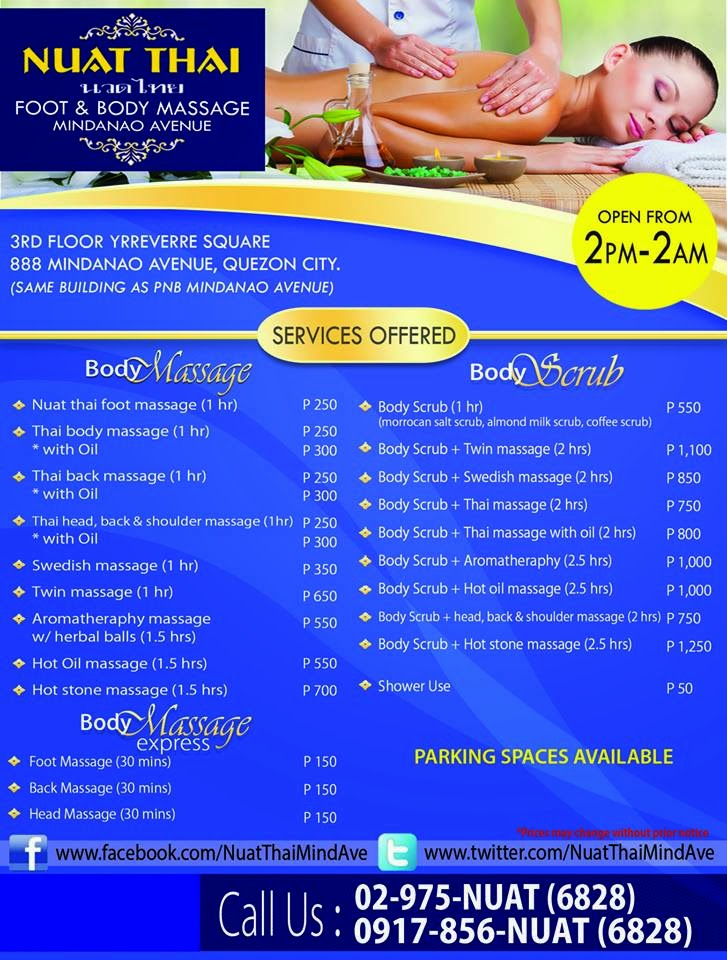 Aroma Thai Foot Spa Rates
