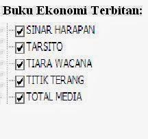 Buku Ekonomi Penerbit: Sinar Harapan, Tarsito, Tiara, Titik, Media Online Murah