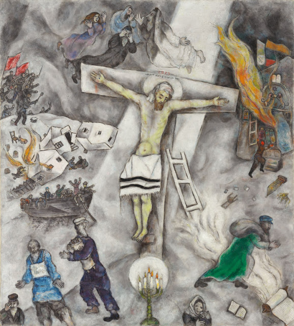 Pope Francis' Favorite Painting Is A Blasphemous Painting ... Chagall White Crucifixion