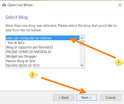 selezionare-account-blogger-blog