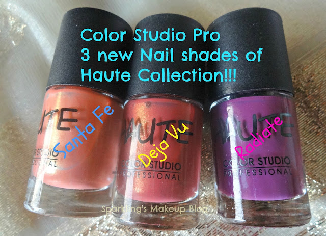 ColorStudioPro New launched shade from Haute Nails: Santa Fe, Deja Vu and Radiate