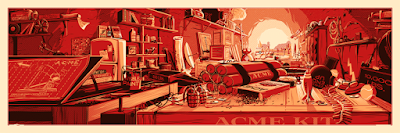 """The Desk of Mr. Coyote"" Looney Tunes Screen Print by Rob Loukotka"