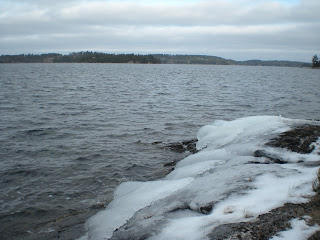 Icy rock on Burntside Shoreline, http://huismanconcepts.com/
