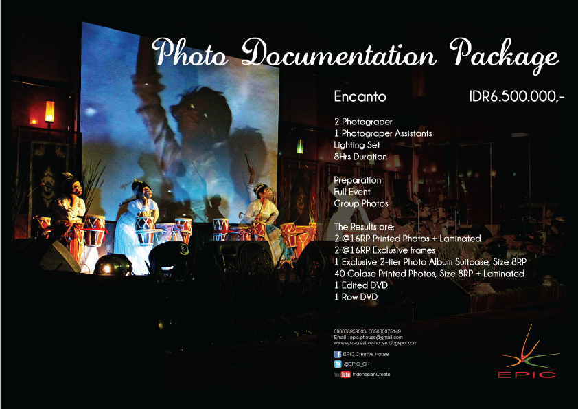 Price List Photos & Video Documentation