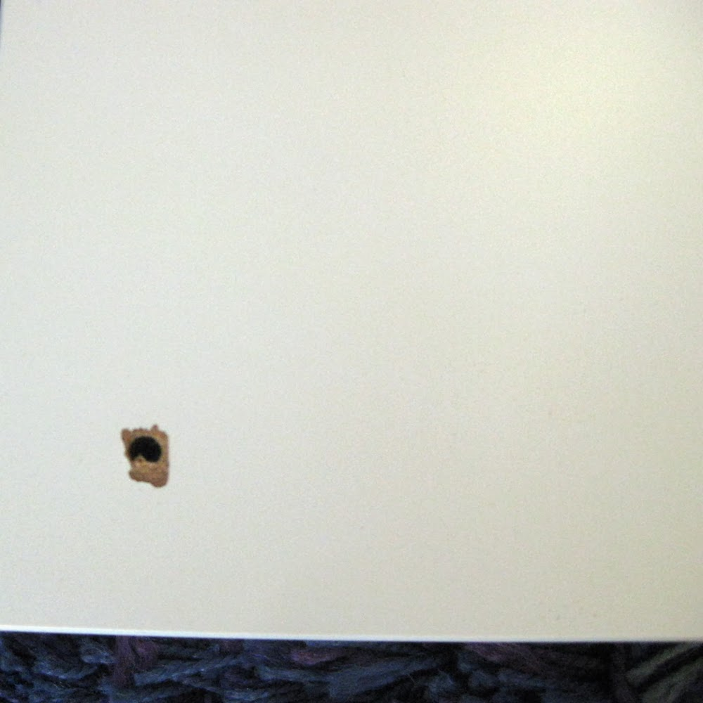 drill hole in coffee table