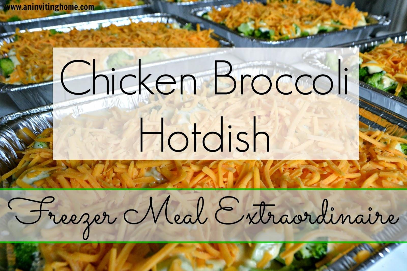 Chicken Broccoli Hotdish Freezer Meal