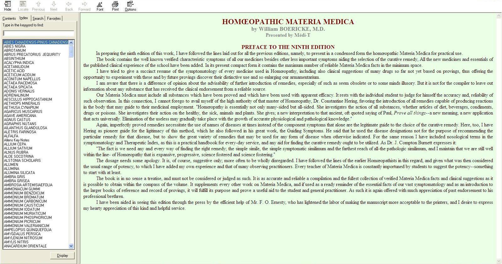 Homeopathic Materia Medica - William Boericke