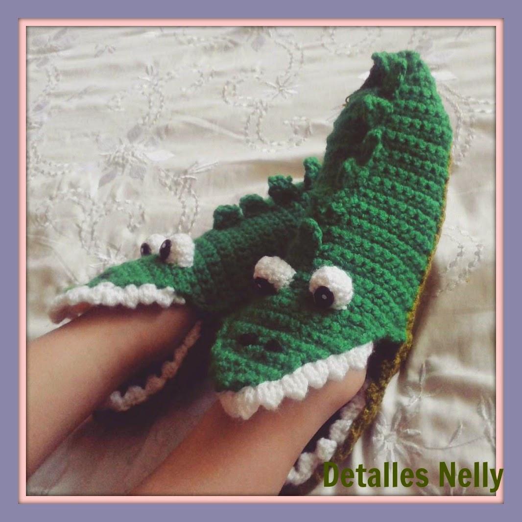 Atractivo Patrón De Crochet Para Zapatillas De Tiburón Festooning ...
