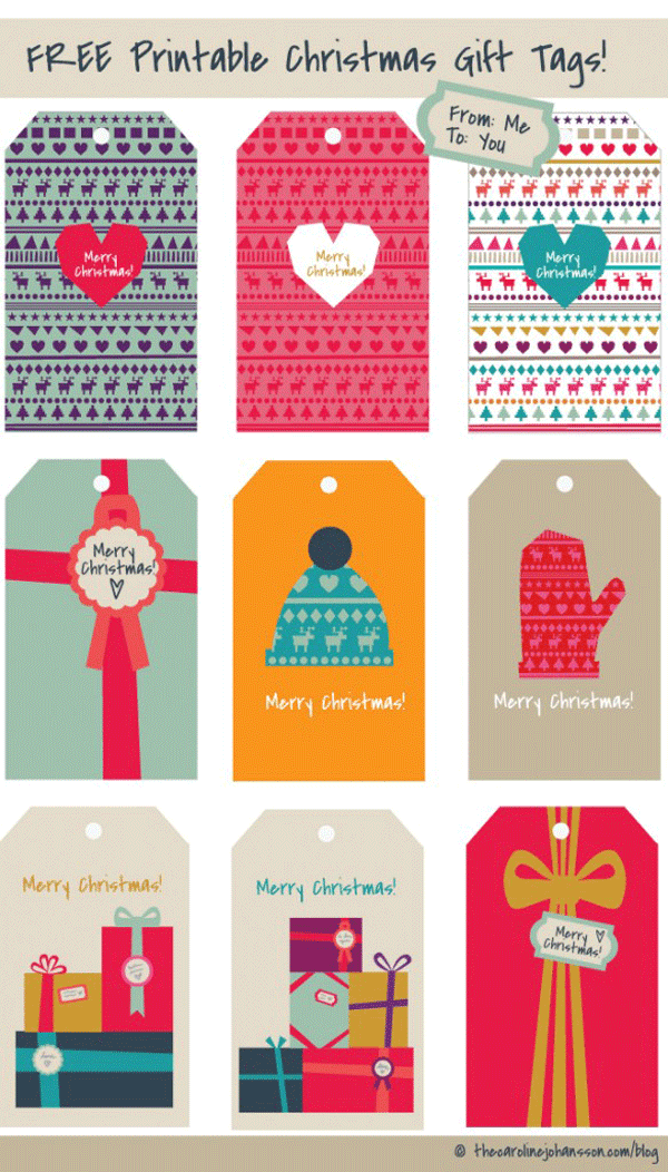 free printable holiday gift tags, christmas gift tags, free printable