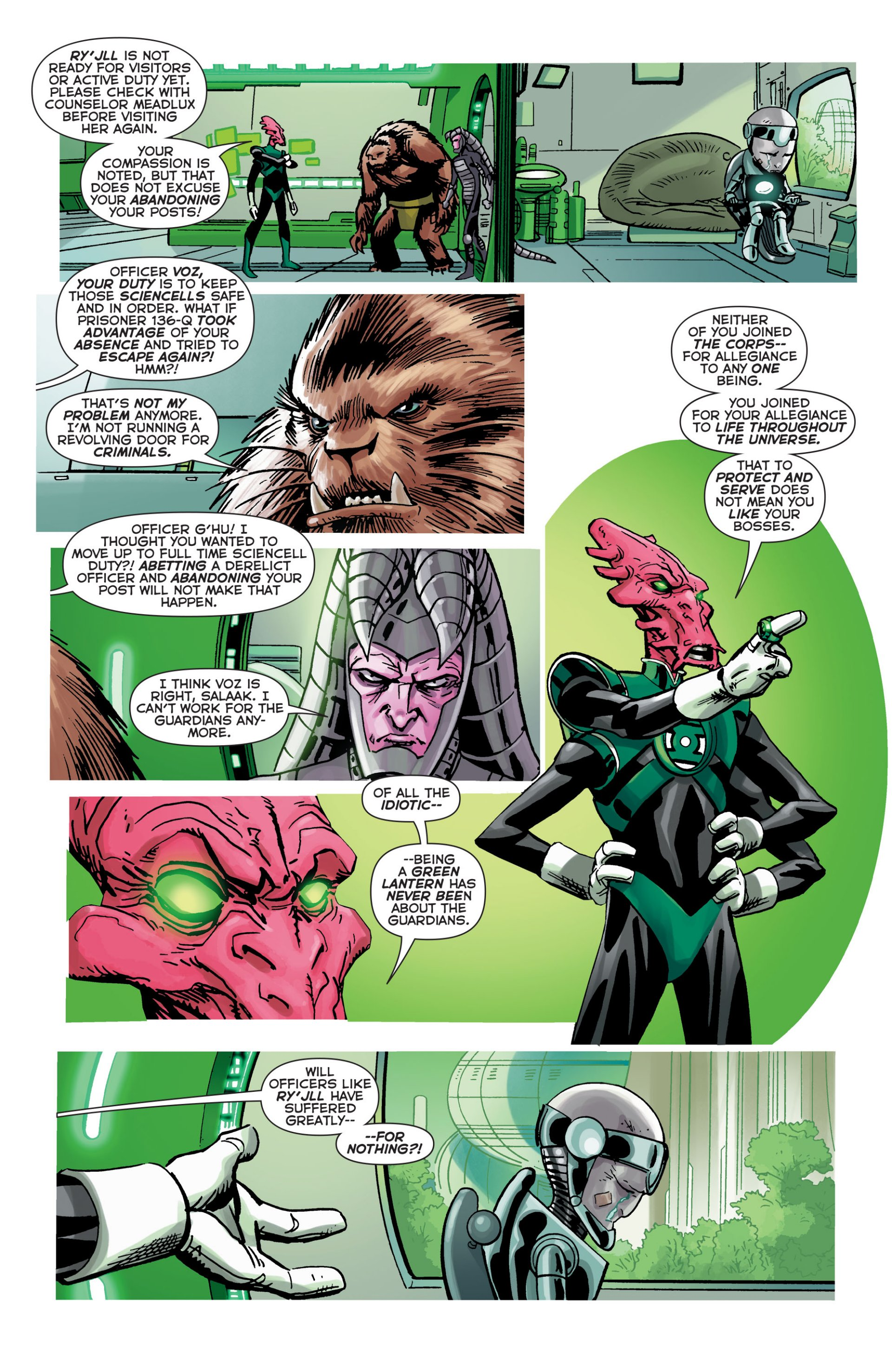 Read online Green Lantern Corps (2006) comic -  Issue #63 - 12