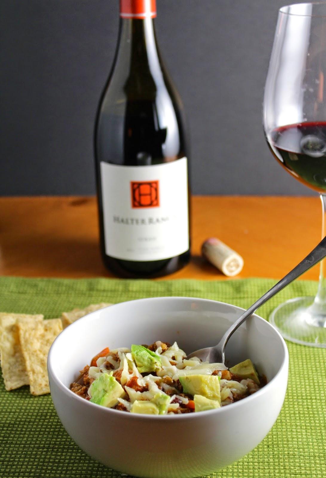 Turkey Chili and Wine Pairing