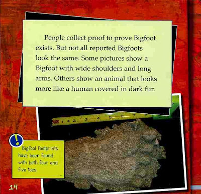 sample page #1 from bookcover of THE UNSOLVED MYSTERY OF BIGFOOT  (First Facts)  by Michael Burgan (exclusive booksforkids-reviews.com)