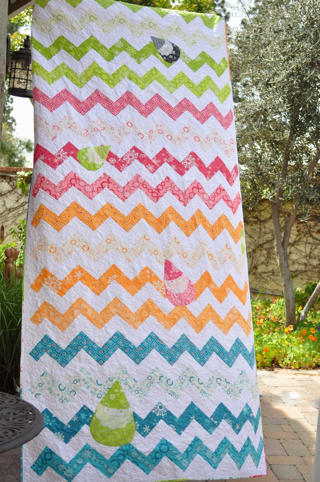 winterkist chevron quilt