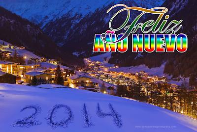Postal navideña con mensaje de Feliz Año Nuevo 2014