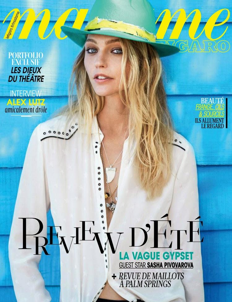 Model @ Sasha Pivovarova - Madame Figaro France, April 2015
