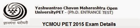 YCMOU PET 2015 Exam Details